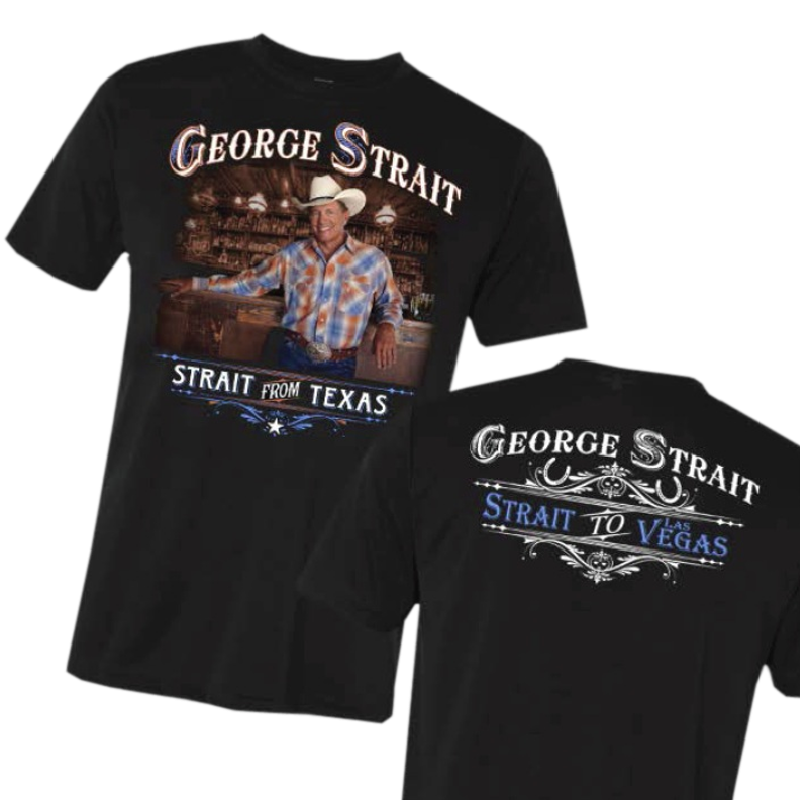 George Strait Black Photo Tee
