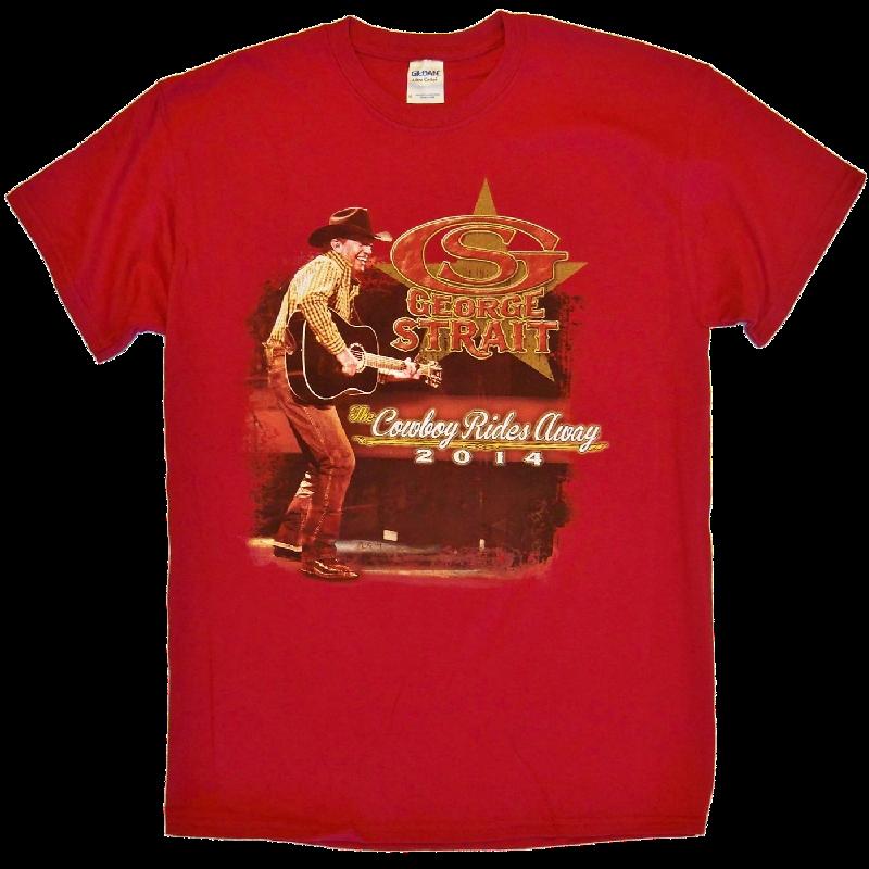 George Strait 2014 Cardinal Red Tee