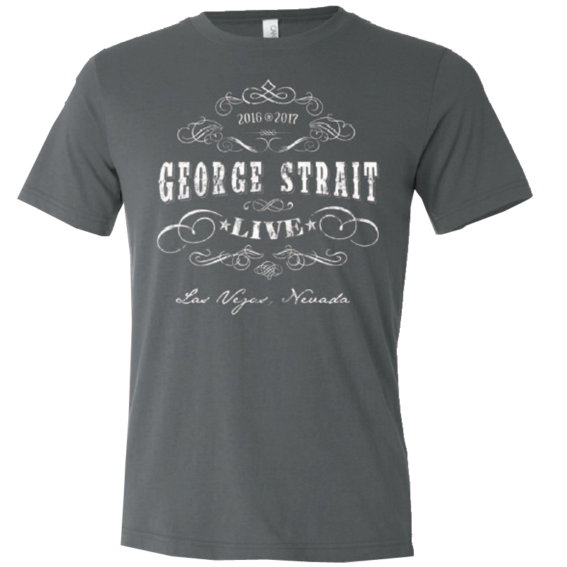 George Strait Heather Charcoal Live Tee
