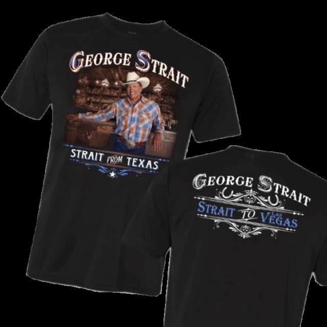 George Strait Black Photo Tee