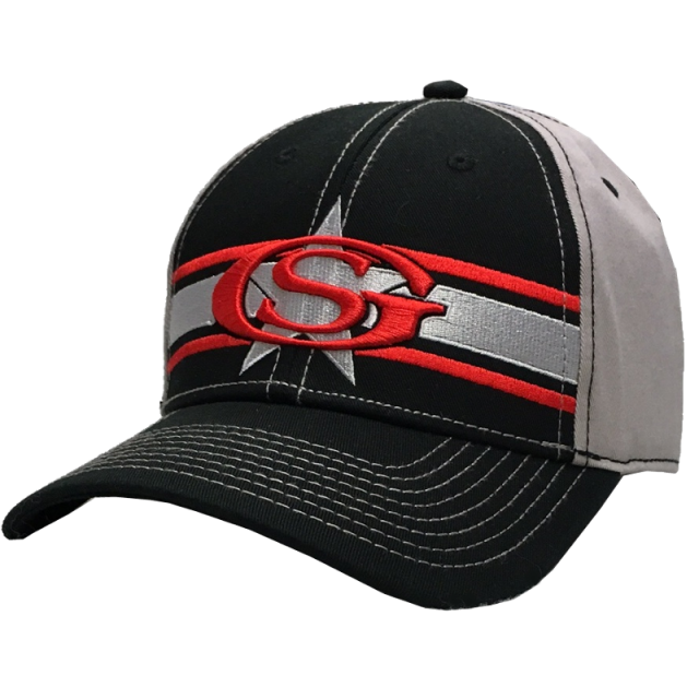 George Strait Black and Grey Ballcap