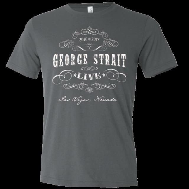 George Strait Heather Charcoal Live Tee