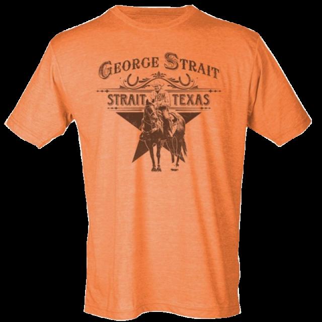 George Strait Heather Orange Strait From Texas Tee