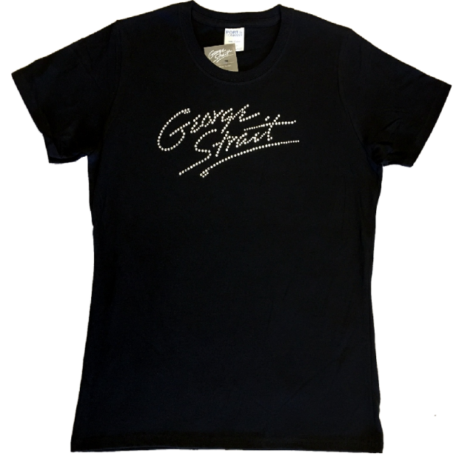 "George Strait Ladies Black ""Bling"" Tee"