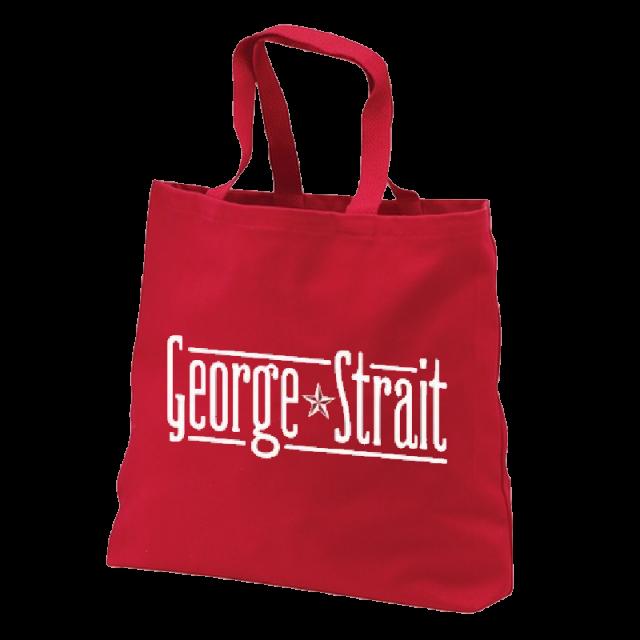 George Strait Red Tote Bag