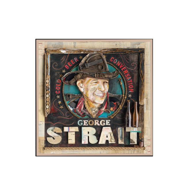 George Strait Cold Beer Conversation Album Cover Magnet
