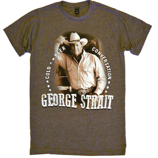 George Strait Heather Brown Photo Tee
