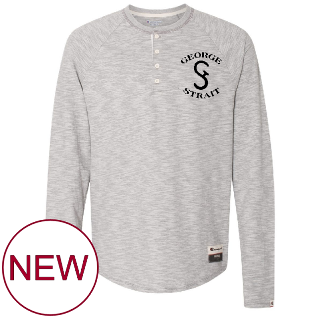 George Strait Oxford Grey Henley