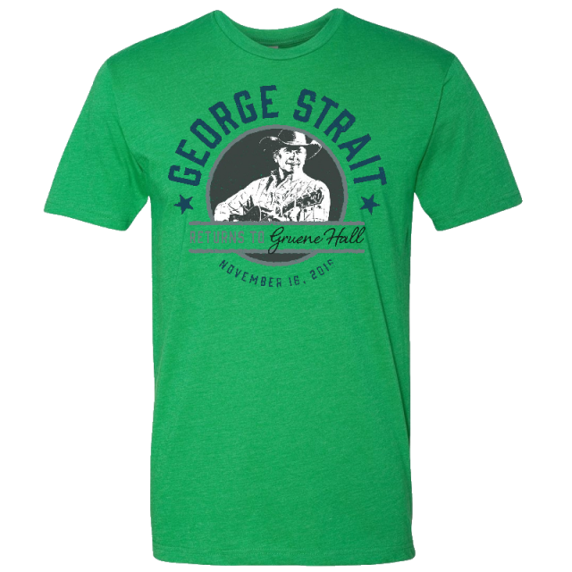 George Strait Kelly Green Gruene Hall Tee