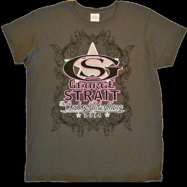 George Strait Ladies Charcoal Logo Tee