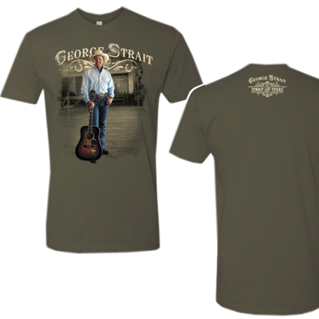 George Strait Military Green Photo Strait From Texas Tee