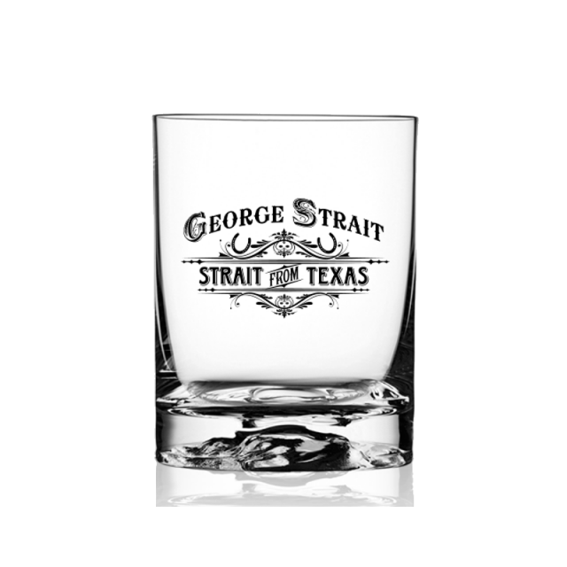 George Strait Old Fashion Glass