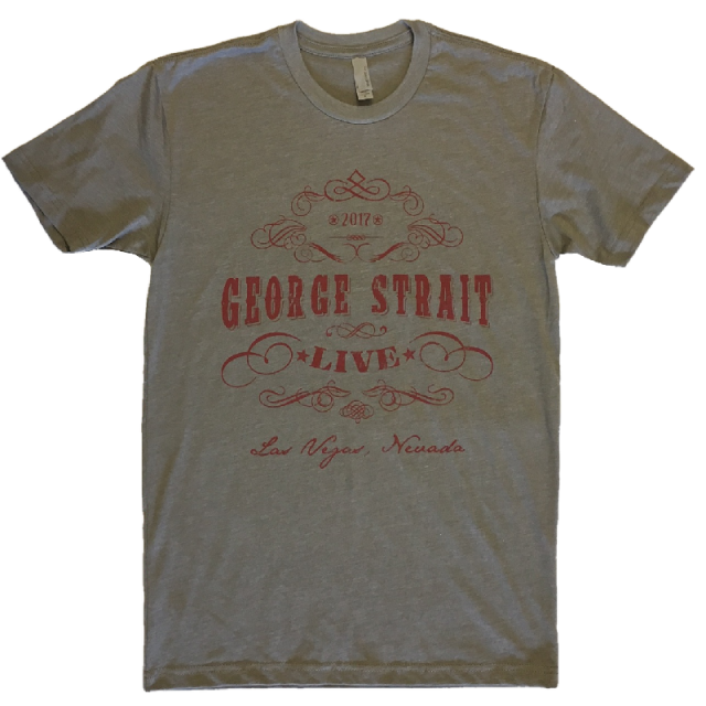 George Strait Warm Grey Live Tee