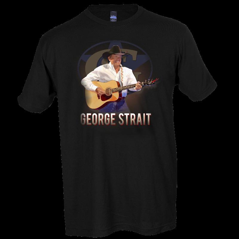 George Strait Black Live in Concert Tee- Austin, New Orleans, Tulsa