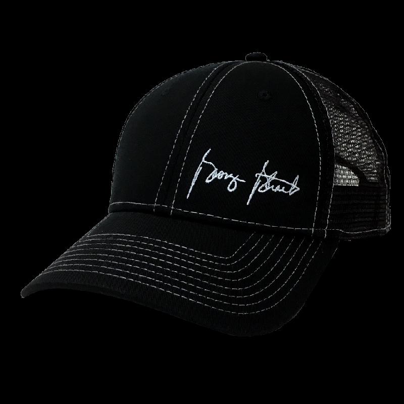 George Strait Black Ballcap w/ Offset Logo