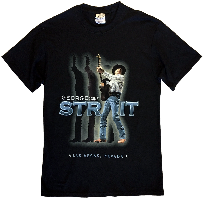 George Strait Jet Black Live Photo Tee