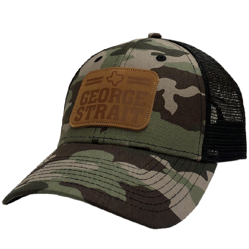 George Strait Camo and Black Ballcap