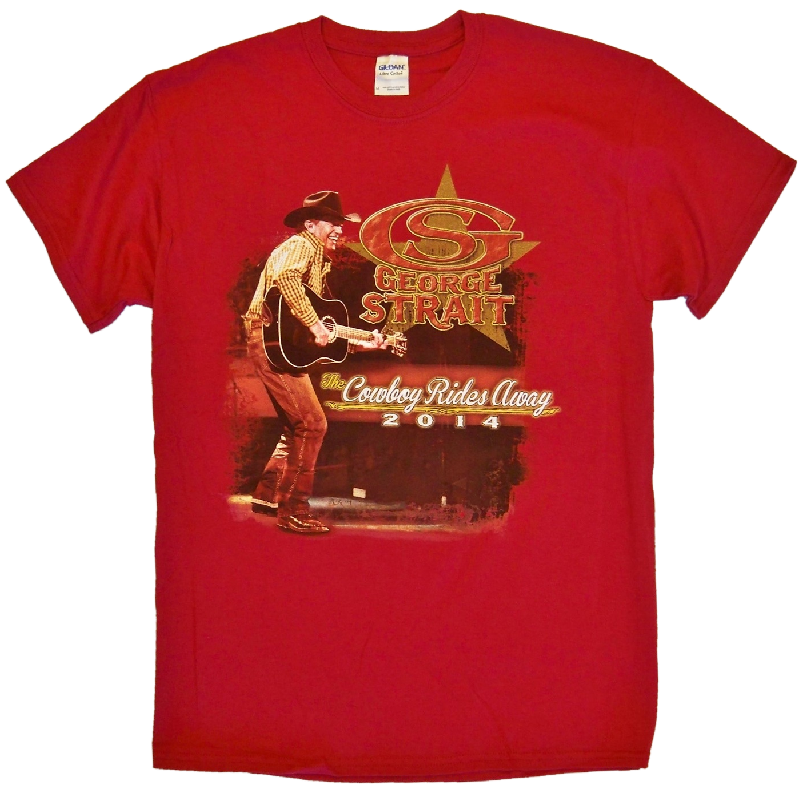 George Strait 2014 Cardinal Red Tee