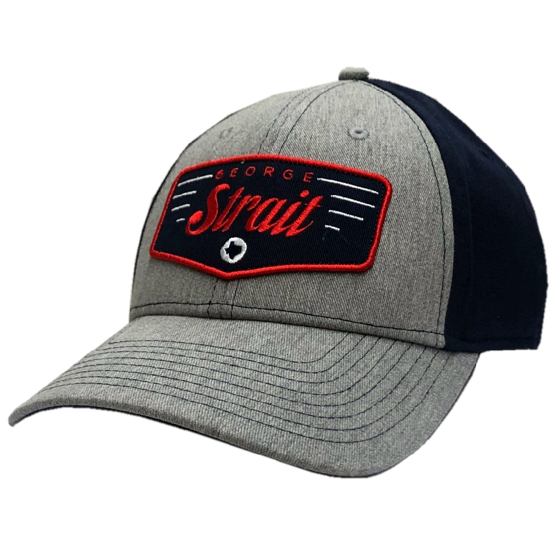 George Strait Heather Grey and Navy Ballcap