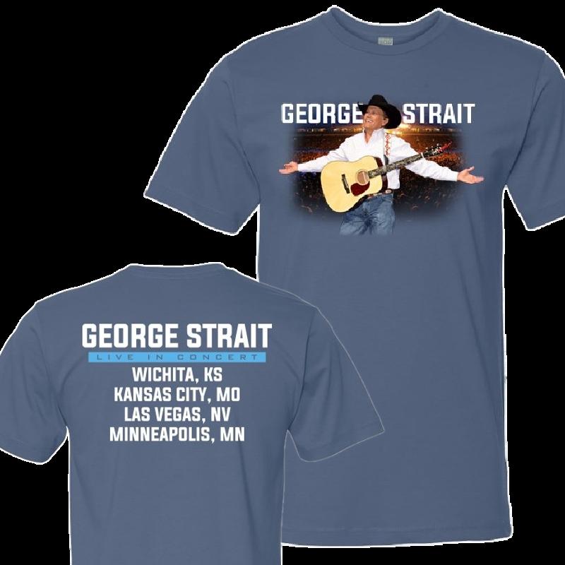 George Strait Indigo Blue Tour Tee