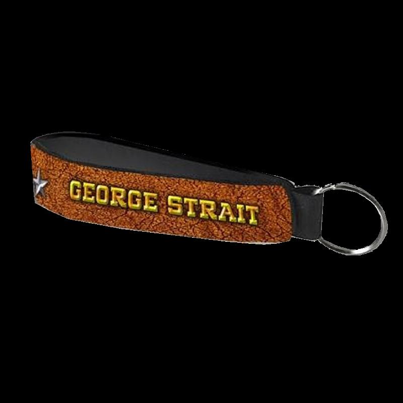 George Strait Neoprene Wristband/Keyring