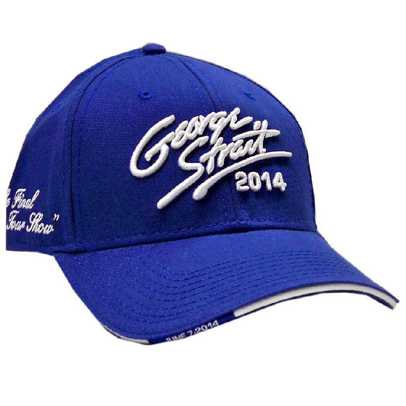 George Strait 2014 Royal Blue Final Show Ballcap