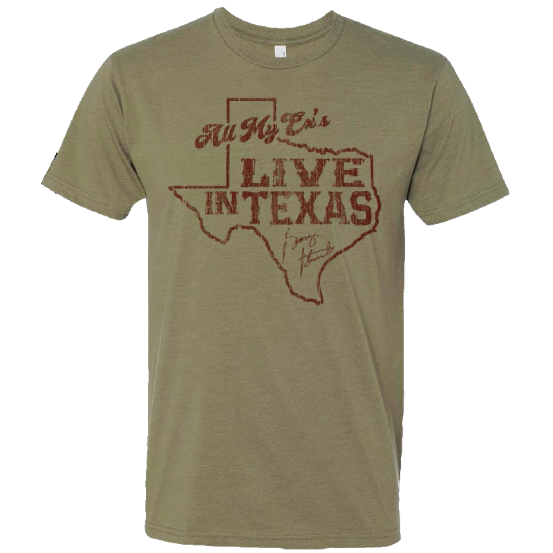 George Strait Light Olive Ex's Tee- PRESALE