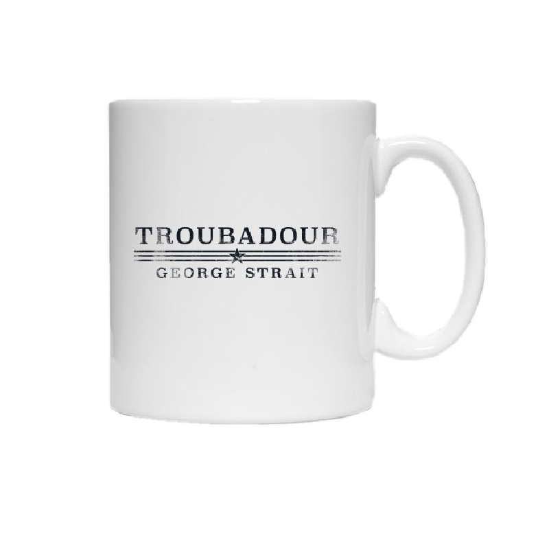 George Strait Troubadour Black Logo Coffee Mug