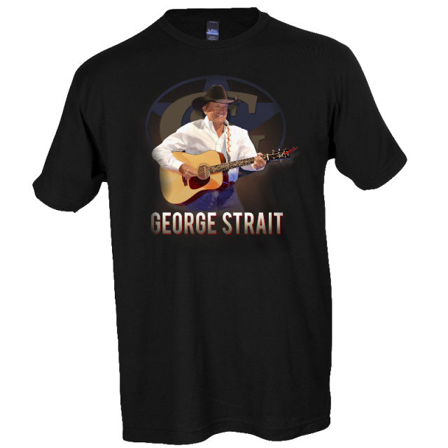 George Strait 2019 Black Live in Concert Tee- Houston TX through Ft. Worth TX