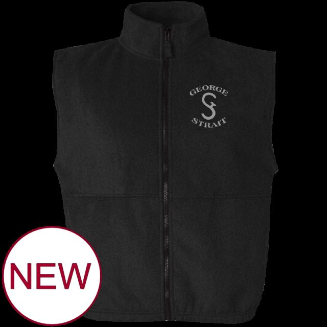 George Strait Black Fleece Vest