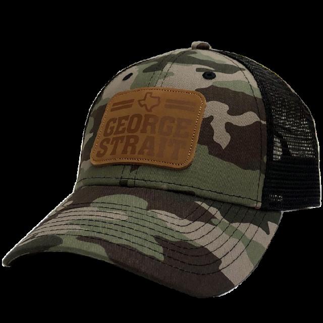 George Strait Camo and Black Ballcap