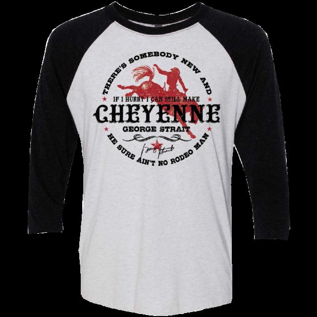 George Strait White and Black Cheyenne Raglan