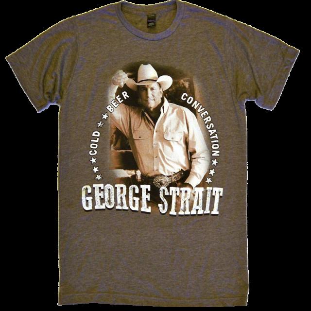 George Strait Heather Brown Photo Tee