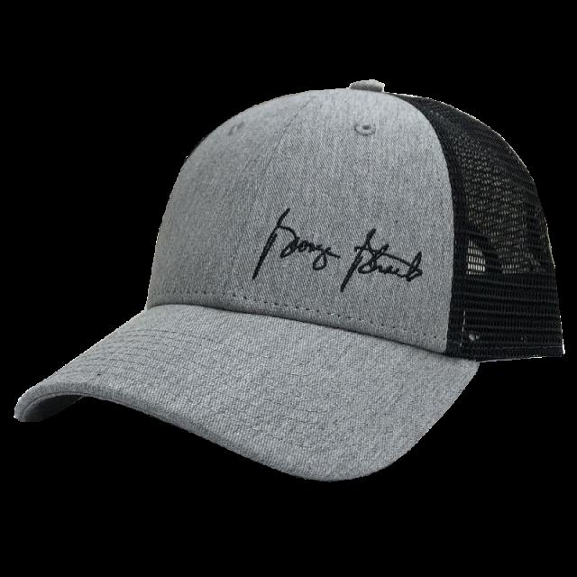 George Strait Grey and Black Ballcap w/ Offset Logo