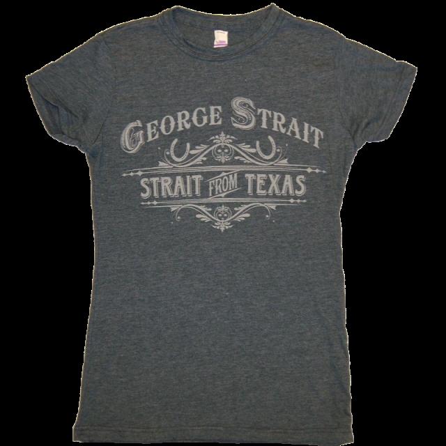 George Strait Ladies Heather Grey Tee
