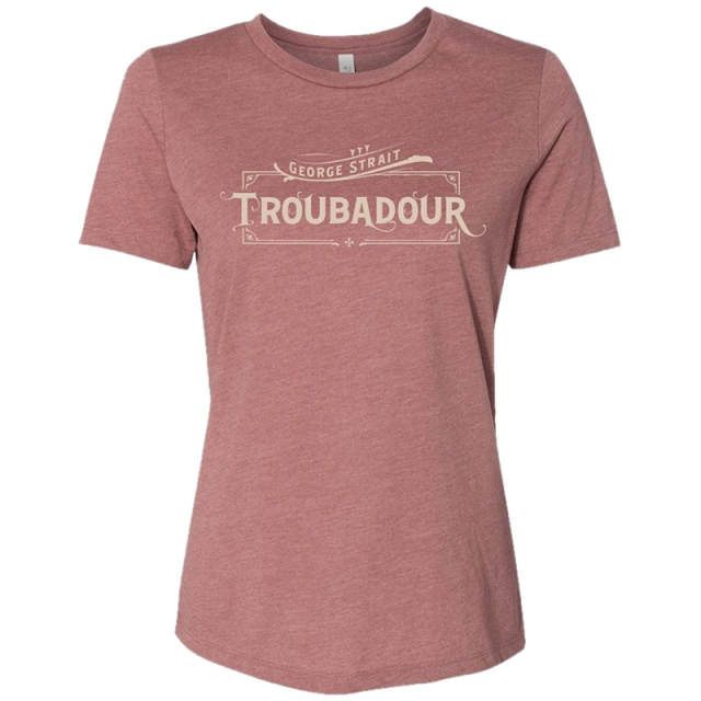 George Strait Ladies Heather Mauve Troubadour Tee