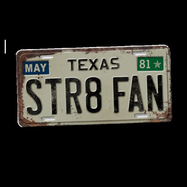 George Strait STR8 FAN License Plate