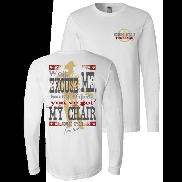 George Strait Long Sleeve My Chair Tee
