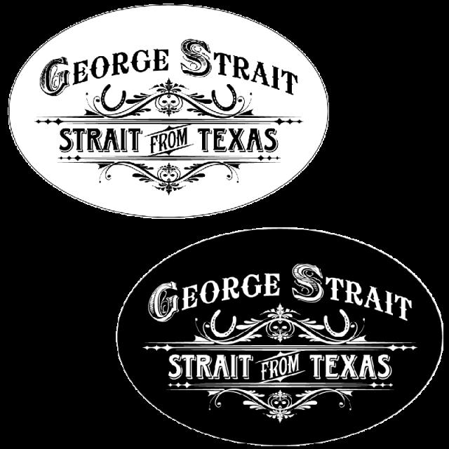George Strait Oval Sticker