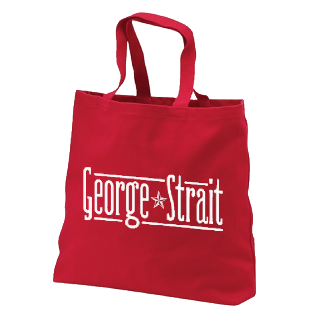 George Strait Red Tote Bag