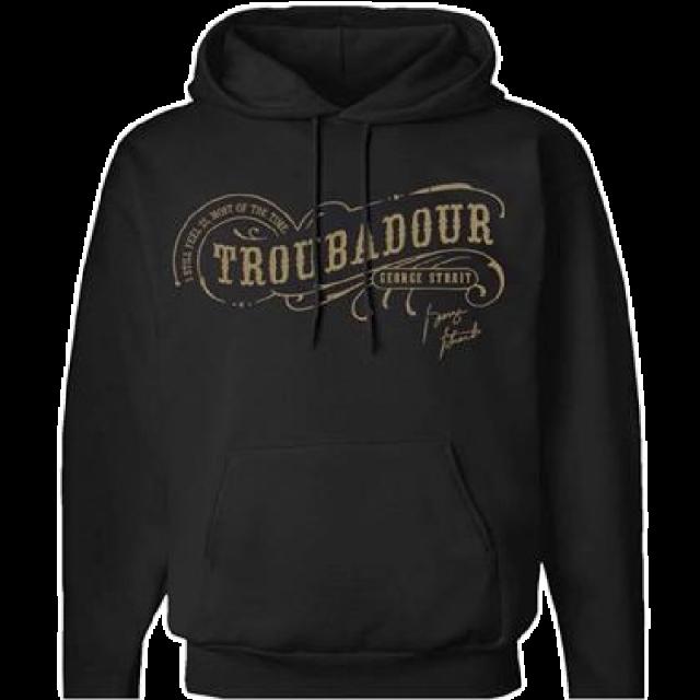"""George Strait """"Troubadour"""" Black Hoodie"""