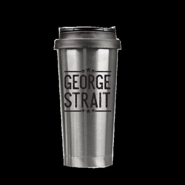 George Strait 16 oz. Stainless Steel Tumbler