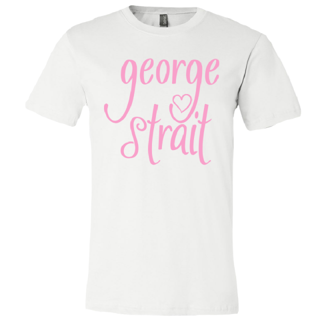 George Strait White Heart Logo Tee