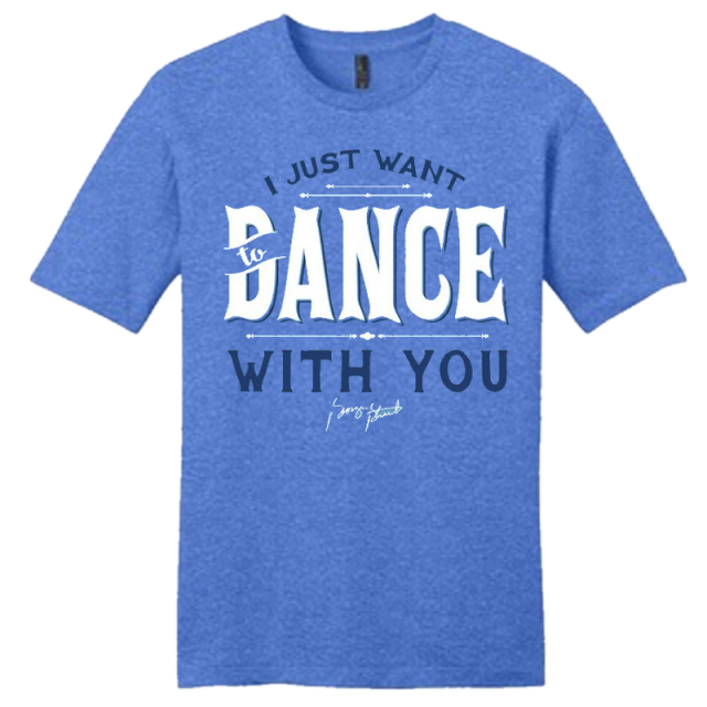 George Strait Unisex Heather Royal Dance With You Tee