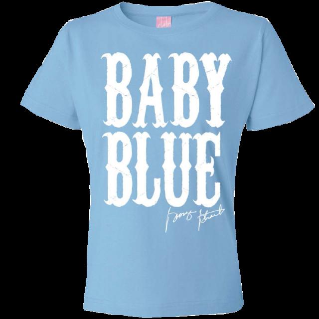 """George Strait Ladies """"Baby Blue"""" Tee"""