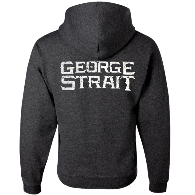 George Strait Black Heather Pullover Hoodie