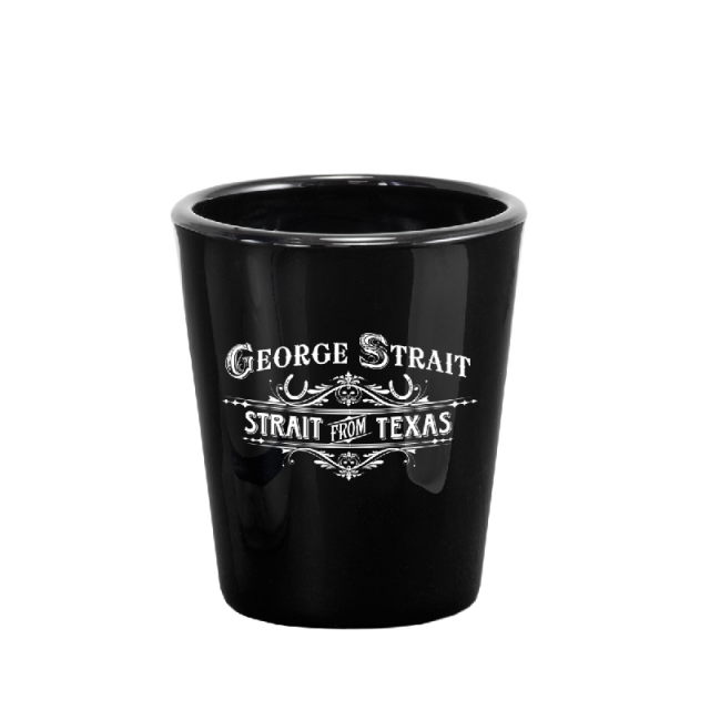 George Strait Black Shotglass- Strait From Texas