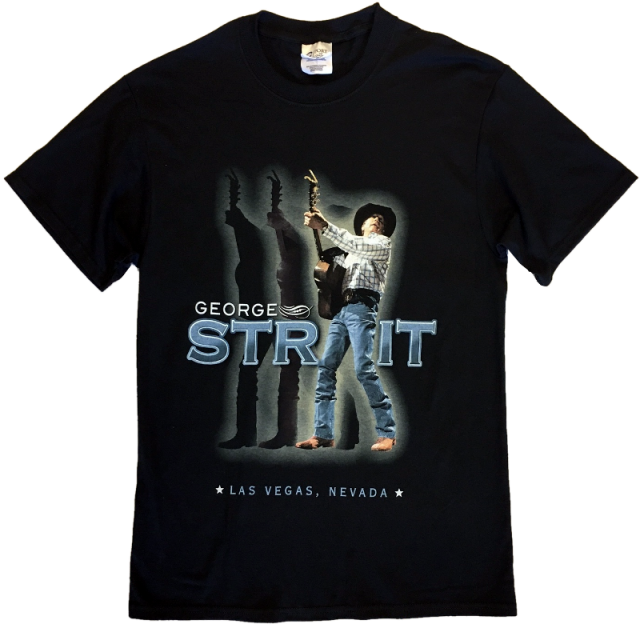 George Strait Jet Black Live Photo Tee