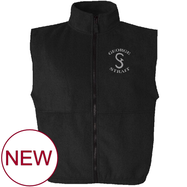 George Strait Black Fleece Vest