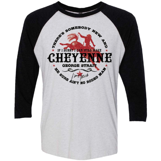 George Strait White and Black Cheyenne Raglan